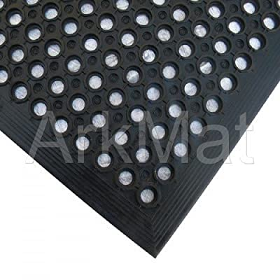 ** 6 Mat Special Offer ** 6 X Rubber Workplace Anti Fatigue/ Factory/Kitchen/ Bar Flooring Mat 3ft x 5ft x 12mm
