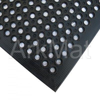 ** 6 Mat Special Offer ** 6 X Rubber Workplace Anti Fatigue/ Factory/Kitchen/ Bar Flooring Mat 3ft x 5ft x 12mm - low-cost UK flooring store.