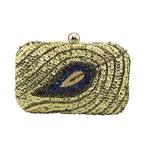 Strawberryer Ladies Evening Bag Perles Embrayage Téléphone Portable Cosmétique KTV Banquet Décoration Décoration Embrayage gold