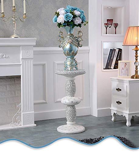 Stehen Blumen Im europäischen Stil Bodenvase römische Säule Dekoration Ecke Blumenständer TV Hintergrund Wanddekoration Clock Hochzeit Props (Größe: Spalte und Blume) ( Size : Column plus flower )