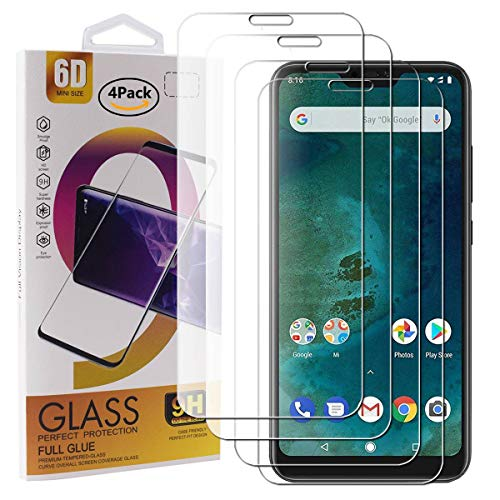 Guran 4 Pack Tempered Glass Screen Protector For Xiaomi Mi A2 Lite Smartphone Scratch Resistance Protection 9H Hardness HD Transparent Shatter Proof Film
