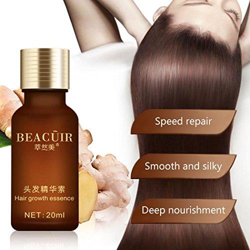 LCLrute NEUE 20ml feuchtigkeitsspendende nährende Kopfhaut glatte trockene Reparatur Behandlung Haarpflege Öl (Braun) (Ingwer Behandlung Für Die Haare)