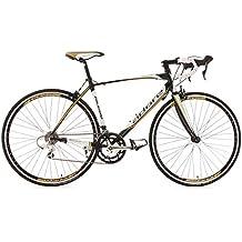 """KS Cycling Palermo de Adore 150A - Bicicleta de carretera, color blanco / negro / dorado, ruedas 28"""", cuadro 50 cm"""