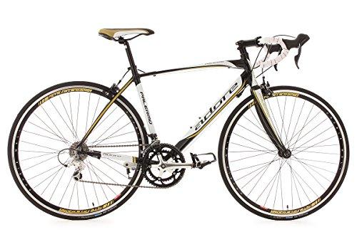 KS CYCLING PALERMO DE ADORE 150A   BICICLETA DE CARRETERA  COLOR BLANCO / NEGRO / DORADO  RUEDAS 28  CUADRO 50 CM