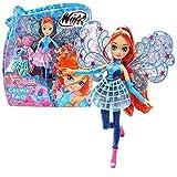 Winx Club Bloom | Cosmix Fairy Bambola con Ali Olografiche Mobili