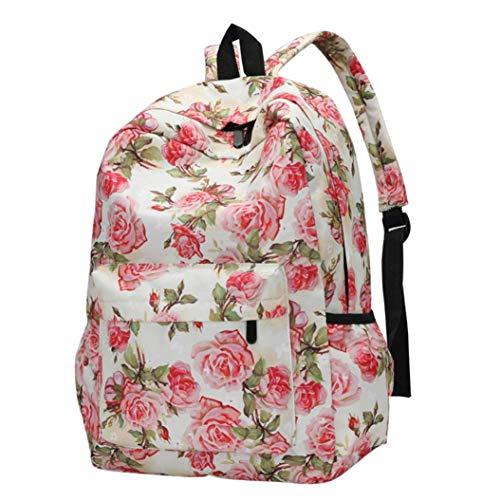Cloom zaino, stile fresco donne zaini ragazze ragazzi tela zaino stampa floreale di nuovo a scuola casuale viaggio impermeabile borse per scuola traspirante zainetti zaini(c,1pc)