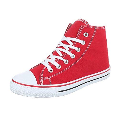 Ital-Design, Sneaker donna Rot SW15277