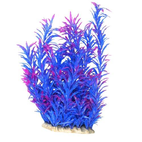 """13"""" Lungo Acquario Giardinaggio Blu Porpora Foglie Simulazione Acquatico Striscia Prato"""