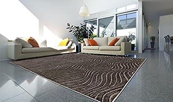 Tappeto soggiorno moderno economico a onde ZEN 40145-930 160X230 ...