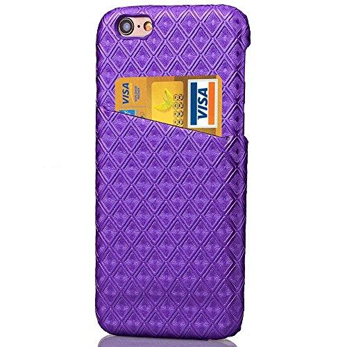 Doppel-Farben-Fall harte rückseitige Abdeckung Platz Diamant-Gitter-Gitter-Muster harter Abdeckungs-Fall für Apple IPhone 6S 4,7 Zoll ( Color : Rose Red , Size : Iphone64.7 ) Purple