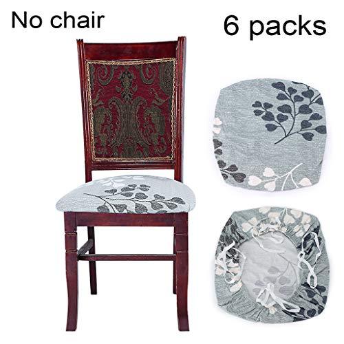 BSTKEY - Juego de 6 Fundas elásticas para sillas de Comedor