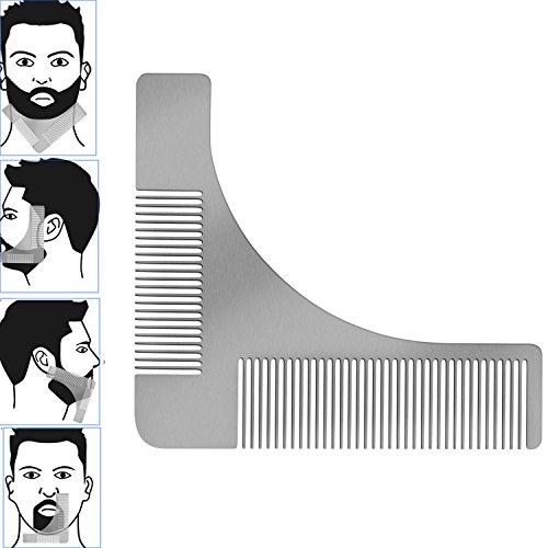 Barba Modello Pettine Strumento pettine acciaio barba per il perfetto Bartfom lo styling della barba rasatura della linea barba barba simmetrica