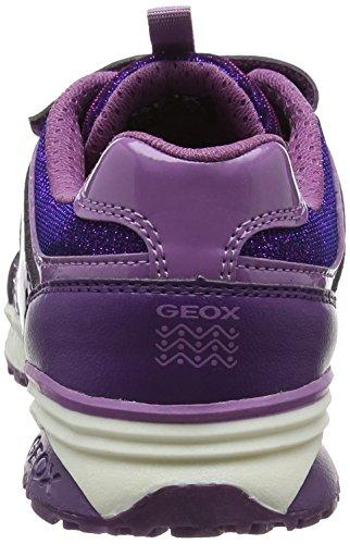 Geox J Bernie D, Scarpe da Ginnastica Basse Bambina Viola (Prune/lavender)
