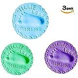 Fancyku Baby Handprint Muddy Hand-Footprints Hand-Footprints Baby Handprint Business Handprint Super Light Clay 30 Grams Handprints 3 Pcs