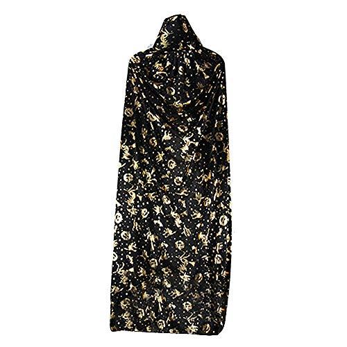 Für Boo Kostüm Kleinkind - GOKOMO Bronzing Witch Cloak Single Layer Verdickter Umhang mit hohem Kragen Golden