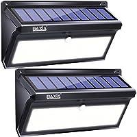 BAXiA 2000LM Luces Solares Exterior, 100 LED 2600mAh Luz Solar Jardin con Resistencia al agua IP65, Foco LED Exterior Solares con Sensor de Movimiento para Jardín Porche Calzada Patio(2 Paquetes)