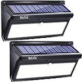 BAXiA 2000LM Luces Solares Exterior, 100 LED 2600mAh Luz Solar Jardin con Resistencia al agua IP65, Foco LED Exterior Solares con Sensor de Movimiento para Jardín Porche Calzada Patio(2 Piezas)