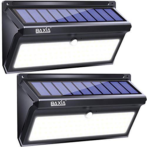 Version Avancee 2000lm Lampe Solaire Exterieur Baxia Eclairage Solaire Detecteur De Mouvement De 100led Projecteur Solaire Exterieur Applique