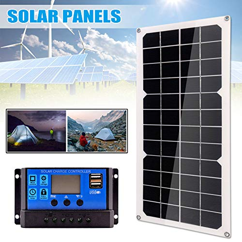 Honsin 10W Solar Panel Monocrystalline Silicon Double USB Port for Battery Cell Phone Chargers - Panel Double Kleidung