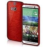 HTC One M8 Hülle Silikon Dunkel-Rot [OneFlow Brushed