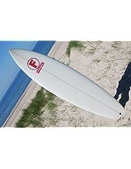 """FYNNONE Epoxy Fishboard Wellenreiter Surfbrett Surf Board inkl Leash 7'2"""" 218 cm 57 l"""