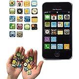 Haft-Magnete im App Design Kühlschrank-Magnete iPhone, iPad Apps Super-Magnete für starken Halt an Whiteboard, Magnettafel, Magnetwand 18-teilige Deko-Magnete 2x2x0,2 cm kleine bunte Neodym Magnete