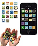 Haft-Magnete im App Design Kühlschrank-Magnete iPhone, iPad Apps Super-Magnete für den Edelstahl Kühlschrank, Magnettafel, Magnetwand 18-teilige Deko-Magnete 2x2x0,2 cm kleine bunte Neodym Magnete