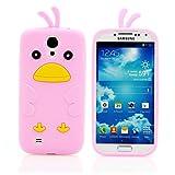 Handy Lux® Schutz Hülle Silikon Case Cover Etui Chicken für Samsung Galaxy S2 / S2 PLUS - Rosa