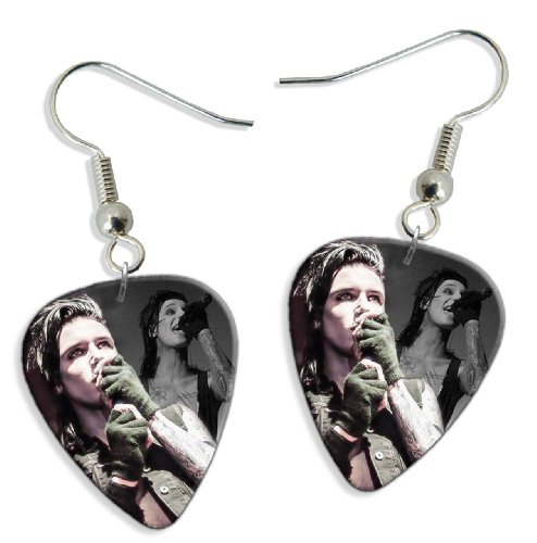 Black Veil Brides Andy Biersack (WK) 2 X Live Performance Gitarre Plektrum Pick Ohrringe Earrings Black Veil Brides-instrumente