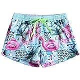 Arcweg Pantaloncini da Bagno Per Donna Coulisse Regolabile pantaloncini da Spiaggia Nuoto Asciugatura Veloce Elastico Pantaloncini da Surfe Protezione UV Tasche a Rete Spiaggia L (EU) / XL (Etichetta)