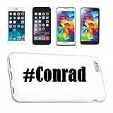 Handyhülle Samsung S8+ Plus Galaxy Hashtag #Conrad im Social Network Design Hardcase Schutzhülle Handycover Smart Cover für Samsung Galaxy Smartphone in Weiß Schlank und schön, das ist unser HardCase