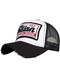 LMMVP Sombrero Gorra para Hombre Mujer Talla única Casquillo Bordado de Verano Sombreros de Malla para Casuales Sombreros Hip… SCrgDSea