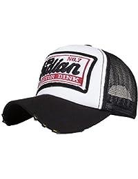 LMMVP Sombrero Gorra para Hombre Mujer Talla única Casquillo Bordado de Verano Sombreros de Malla para Casuales Sombreros Hip…