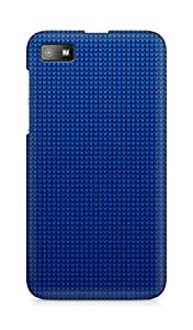 Amez designer printed 3d premium high quality back case cover for BlackBerry Z10 (Blue Abstract Art)