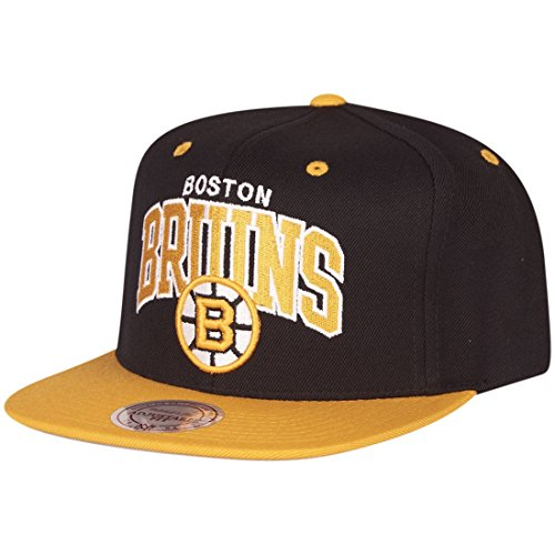Casquette Snapback Team Arch Boston Bruins noir-jaune MITCHELL & NESS Noir-Jaune