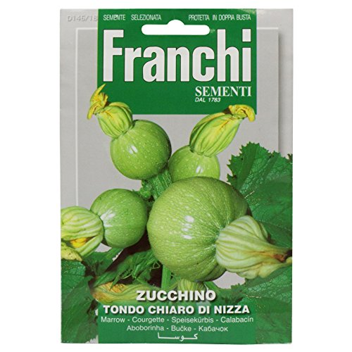 Seeds of Italy Franchi Courgette Ronde de Nice