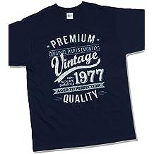 1977 Vintage Year - Aged to Perfection - 40 Cumpleaños Años - Regalo de Cumpleaños Camiseta para Hombre