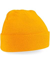 Beechfield Knitted Hat, Mustard, One Size one size,Mustard