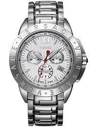 33fddafc9b21 Versace 12 C99d001 S099 en acier inoxydable Affichage de la date  chronographe pour homme Bracelet de