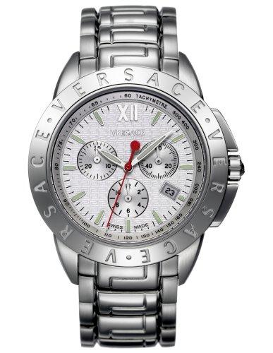 Versace 12C99d001S099en acier inoxydable Affichage de la date chronographe pour homme Bracelet de montre