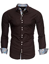 Kayhan Herren Hemd Original Mehrere Farben zur Auswahl Bügelleicht Royal Paisley