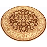 Runder Orientteppich Ziegler 298 cm Ø Braun feine Qualität moderner Teppich oriental round carpet best quality