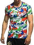 EM Fanshirt 2016 EM Fanshirts Fan T-Shirt Shirt Deutschland Frankreich Italien Portugal Spanien TŸrkei Camouflage T-Shirt; Größe L, Italien