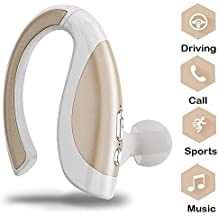 Drahtloser Kopfhörer In-Ear, TechCode Drahtloser Bluetooth Kopfhörer In-Ear Sport im Freien V4.1 Stereo Freisprech-Kopfhörer Ohrhörer Noise Cancelling Ohrhörer mit Mikrofon für iPhone X / 8 / 8plus / 7 / 7plus, Galaxy Note s8 / s9 / s9Plus, iPad / Tablet PC / Andere Bluetooth Smartphone (Gold)