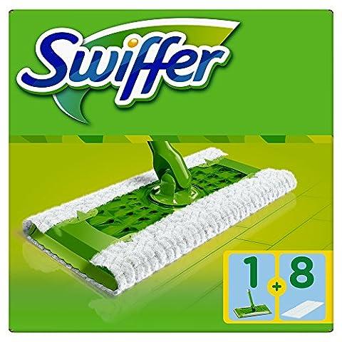 Swiffer - Kit Balai pour Sol + 8 Lingettes Sèches