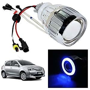 Vheelocityin Blue Ring Projector / Headlight / Headlamp For Toyota Etios Liva