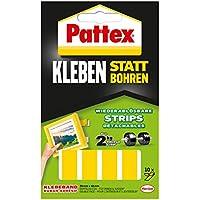 Pattex Kleben statt Bohren Strips , doppelseitiges Klebeband , wieder ablösbar , 10 Stück