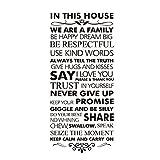 Winhappyhome Familie Regel Englisch SprüChe Wandaufkleber Schlafzimmer Wohnzimmer Hintergrund Home Decor Removable Aufkleber Wandzeichnungen 55 * 120 Cm