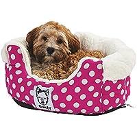 Bunty Deep Dream - Cama para perro de polar y pelaje suave y patrón de lunares