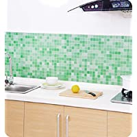 Tonsee Badezimmer Wc Wasserdicht Selbstklebende Aufkleber Mosaik Fliesen  Tapeten (grün)